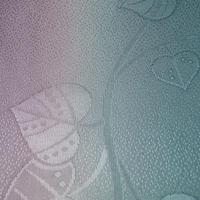 【帯揚げ】青竹色×薄紫色 染め分け暈し 葵文 帯揚げ ㋕