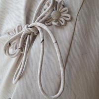 【薄物コート】白練色 抽象柄 薄物道中着
