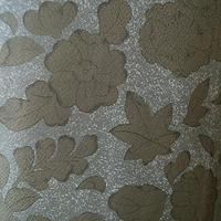 【袷】苔色系辻が花柄とたたき染小紋