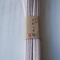 【帯締め】平田紐 冠組帯締め  灰桜色 14
