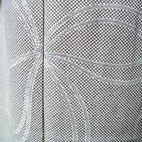 【袷】柳染系 行儀に結び文附下げ小紋