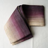 【半幅帯】濃藤色本麻ぼかし半幅帯
