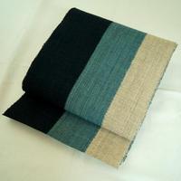 【なごや帯】からむし織 三食縞 かがり帯