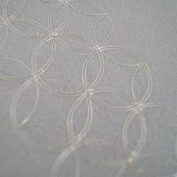 【帯揚げ】薄青色 銀糸刺繍・七宝繋ぎ紋 ちりめん