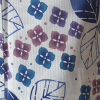 【浴衣】刺し子に紫陽花柄の浴衣 3k61