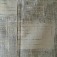 【単衣】薄象牙色の四角文紬