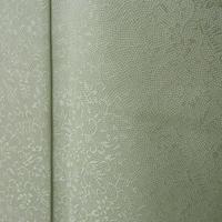 【単衣】トールサイズ 薄萌葱系 唐花の地紋に鮫 小紋