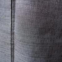 【袷】藍墨茶系 微塵格子の紬