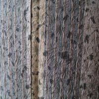 【袷】アースカラー縞と絞りの紬