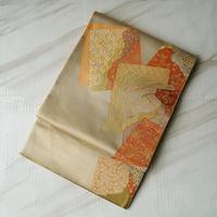 【ふくろ帯】砥粉色(とのこいろ)系 色紙文 川島織物ふくろ帯 5o25