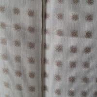 【袷】白花色×利休茶色 万筋にドット柄 小紋