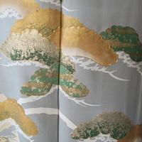 【袷】ひそく色 松と鶴文 色留袖