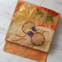 【ふくろ帯】紅葉と鼓 アンティークふくろ帯