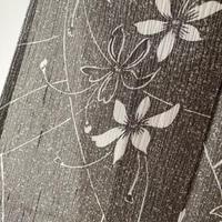 【夏・夏紬】桔梗鼠 たたき染め華文 楊柳夏紬