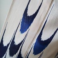 【浴衣】濃紺×納戸色 絣文様 浴衣