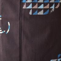 【浴衣】黒檀色 幾何学柄 浴衣