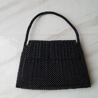 【バッグ】黒珊瑚 ビーズバッグ