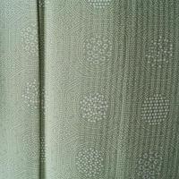 【夏・絽】トールサイズ 青磁色 丸窓に小花文 小紋