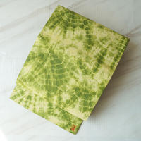 【なごや帯】萌黄色加賀紙子(和紙)の絞り染めなごや帯