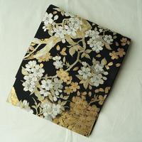 【ふくろ帯】黒地 桜文 袋帯