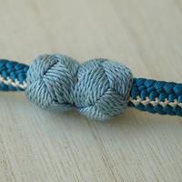 【羽織紐】水浅葱色 大小田巻房・マグネット羽織紐