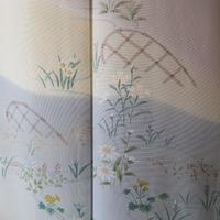 【袷】薄柿色に四季花文色留袖