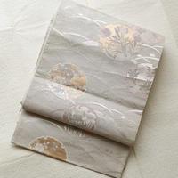 【夏ふくろ帯】露草に雪輪文紗袋帯