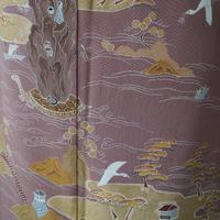 【袷】退紅(あらぞめ)系 風景文様色留袖 5k27