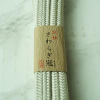 【帯締め】平田紐 冠組帯締め 白鼠色 3