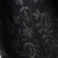 【ストール】カシミール刺繍 黒×黒