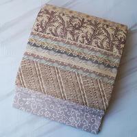 【ふくろ帯】淡色系 横段切り嵌め 洒落ふくろ帯