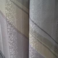 【袷】青灰色系更紗縞に変わり斜め縞小紋 5k51