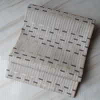 【ふくろ帯】白灰色系 幾何学文 リバーシブルづかい洒落ふくろ帯