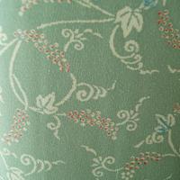 【袷】薄緑色地 ぶどう柄 小紋