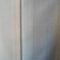 【袷】トールサイズ 淡黄地細縞文 塩澤紬