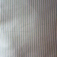 【袷】灰紫色系細縞紬
