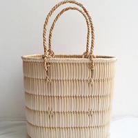 【籠】蒜山がま細工のかごバッグ 中サイズ