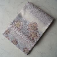 【ふくろ帯】丸文と花菱文 じゅらく帝王紫 ふくろ帯