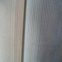 【袷】トールサイズ・淡黄地細縞文塩沢紬