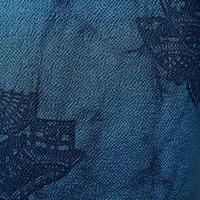 【単衣】濃藍色地 ろうけつ染め 小紋