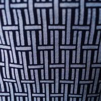 【men's・浴衣】  紺色系 変わり格子文浴衣 3m2