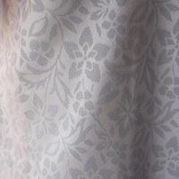 【紗羽織】グレイッシュラベンダー系 更紗文様 紋紗羽織