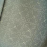 【袷羽織】白灰地小花にタイル風柄羽織