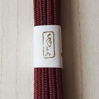 【帯締め】平田紐 冠組帯締め 海老茶