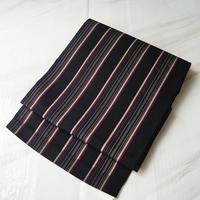 ☆【なごや帯】黒地 縞文 八寸なごや帯 3o63