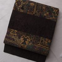 【ふくろ帯】前田仁仙作エキゾチックな袋帯