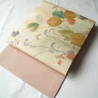 【なごや帯】蔦と女郎花文 染め なごや帯