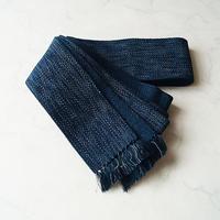 【men's 帯】納戸色×淡灰色 霜降り文 角帯 №210703