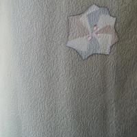 【単衣】ライトカーキ系飛び柄小紋