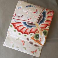 【ふくろ帯】大庭製 あでやかな蝶柄 袋帯